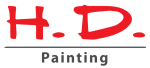HD Painting logo with grey accents